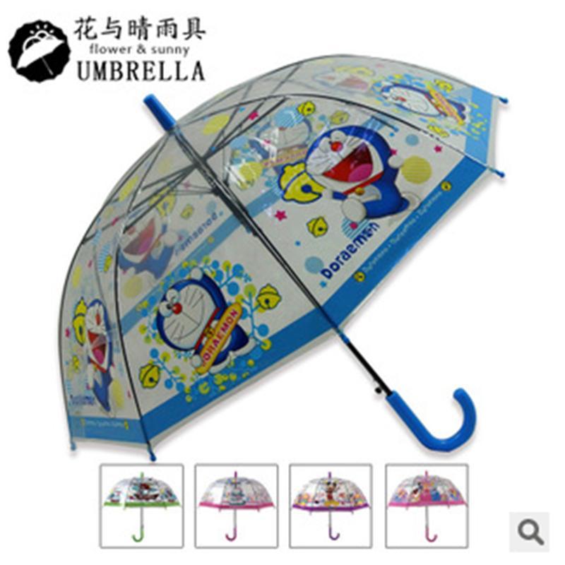 【供用】多种式样-伞儿童透明雨-伞多啦A梦