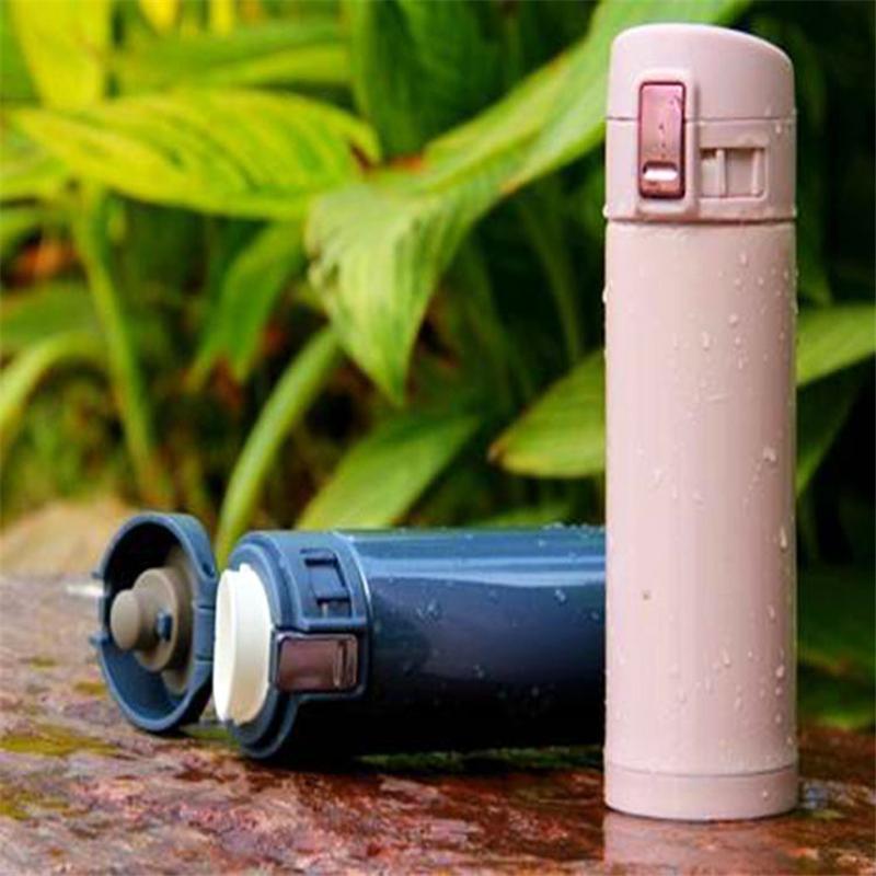 【供用】时尚办公-锁扣不锈钢-真空-保温杯-360M