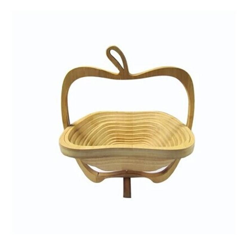水果篮 时尚创意 炭化竹子水果篮工艺品水果篮子竹子果篮折叠