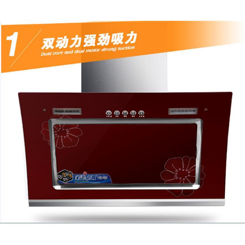双电机蒸汽清洗超大吸力|油烟机侧吸式油烟机