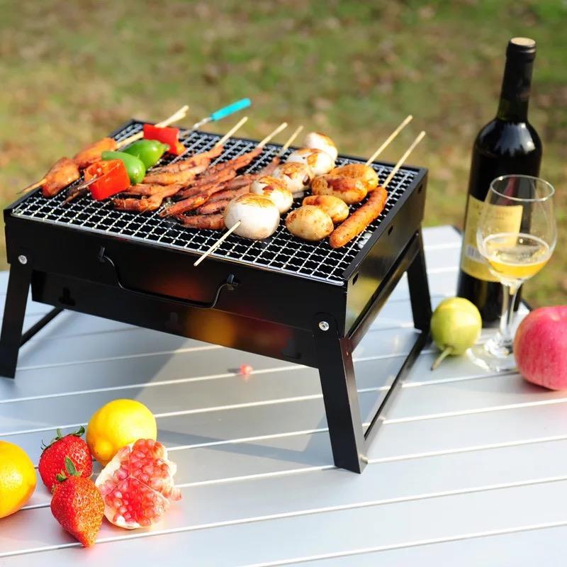 【供用】便携式烤炉-铁质烤漆-铁烤网-不锈钢烤网