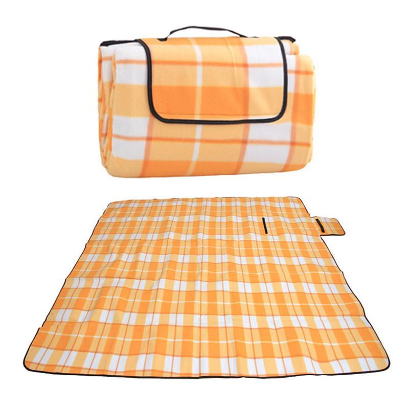 【批发】户外防潮垫-铝膜加厚型绒面-折叠户外地席