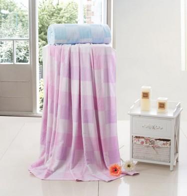 竹纤维格调空调夏凉毛巾被