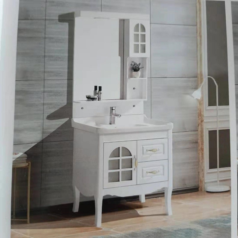 凹式落地式小户型卫生间洗漱台卫浴地柜