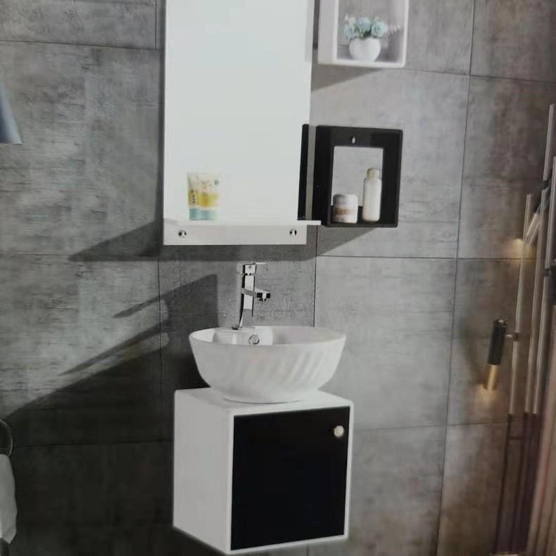 纯色小户型半挂式台上盆洗手台洗漱台浴柜