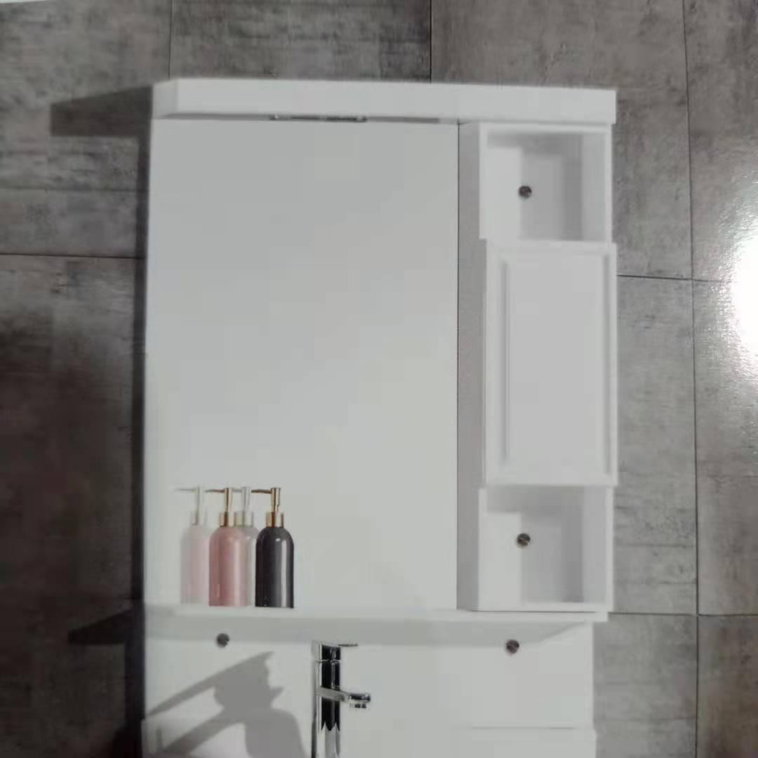 凹面简易收纳柜收纳台镜柜