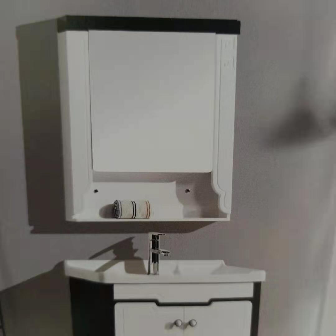 小户型花纹凹式收纳镜柜