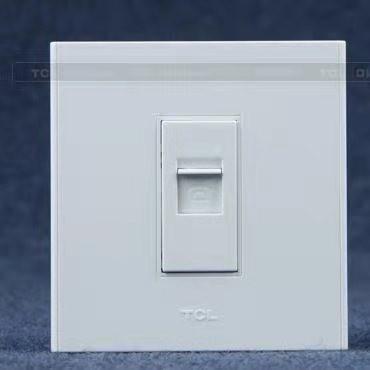 TCL罗格朗白色开关插座面板 A6系列 86型家用电源插座