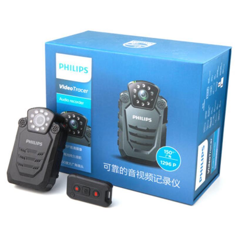 飞利浦(PHILIPS)VTR8200|便携音视频记录仪1296P高清红外广角夜视摄像机执法仪录音笔