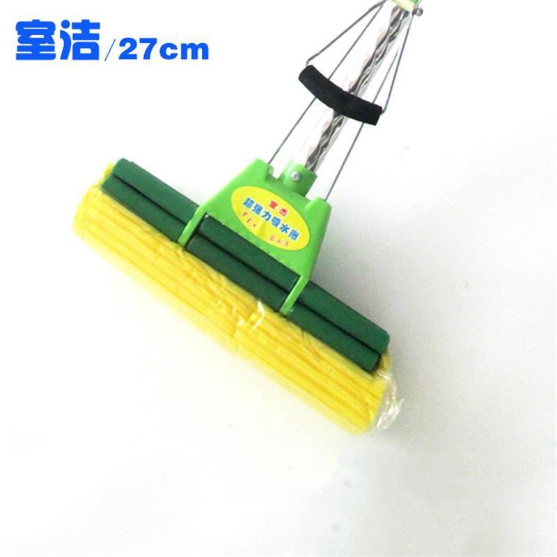 果绿27cm人字全新料强力吸水海绵家用拖把|清洁pva不锈钢胶棉拖把
