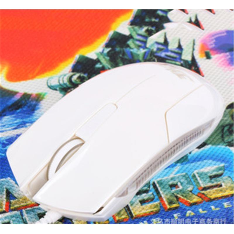 手指王d05发光无线光电游戏办公鼠标-白色