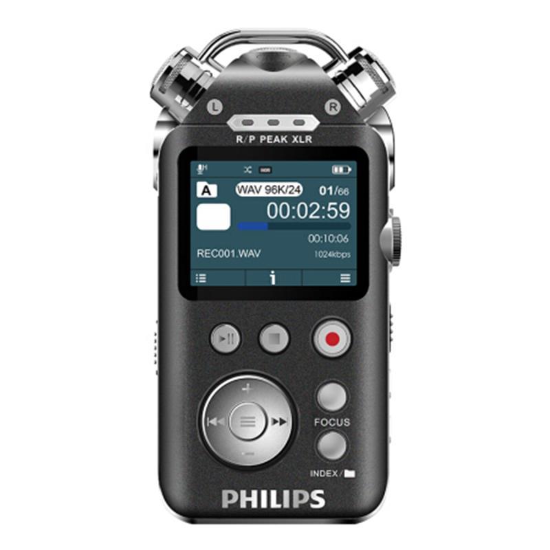 飞利浦(PHILIPS)VTR8800|12通道发烧HIFI音乐录音笔|16G