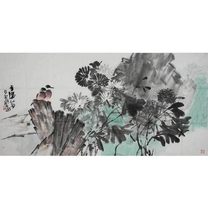 花鸟作品《季阳菊》