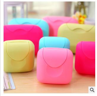 【供用】肥皂盒-颜色多种-方便携带-锁扣设计-带盖