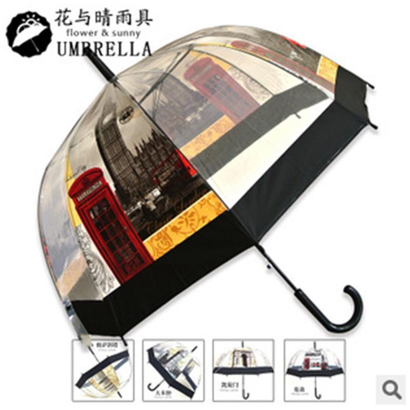 【厂家直销】各种图案-阿波罗鸟笼POE透明伞