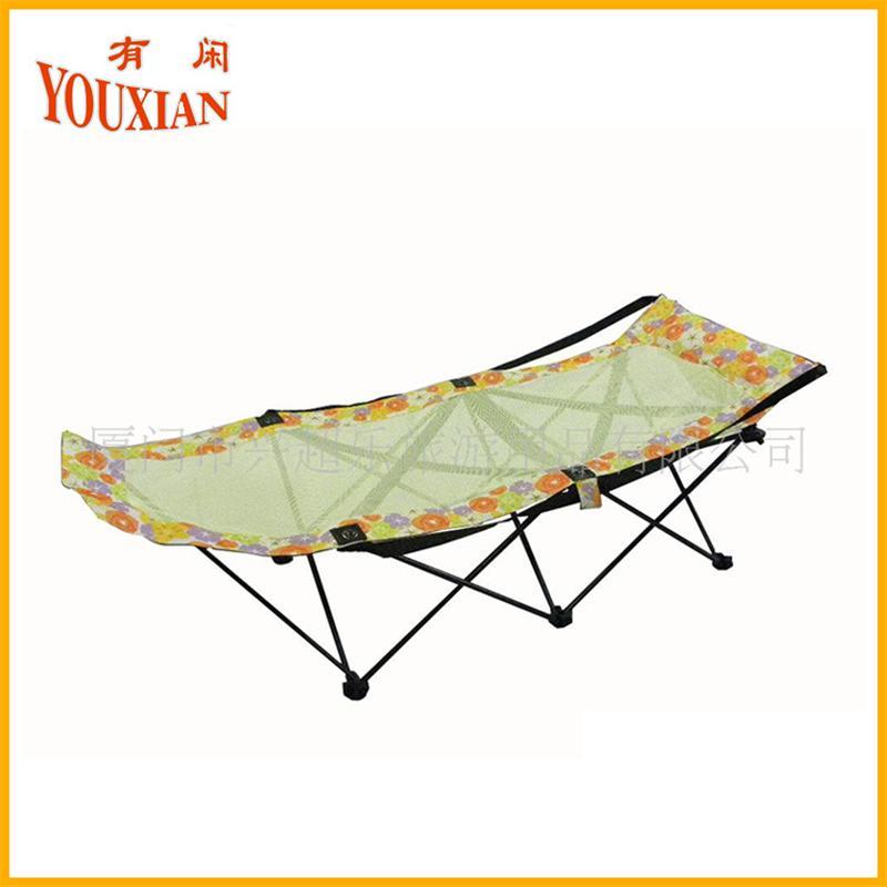 高品质透气网布午休床-折叠沙滩床