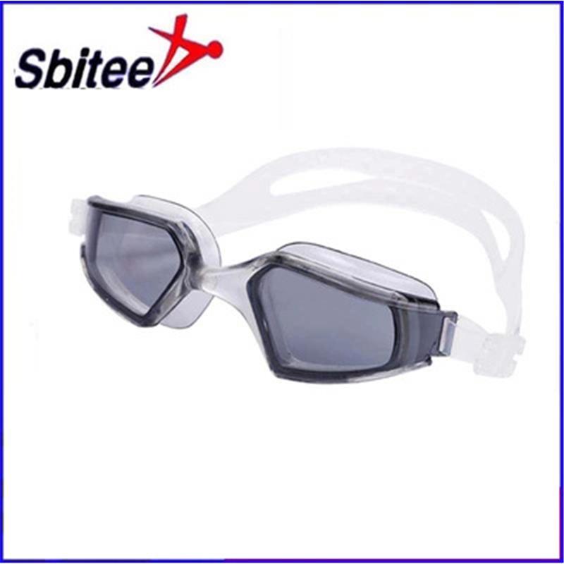 电镀游泳镜|硅胶镜圈镜带男女通用|大框防水防雾泳镜