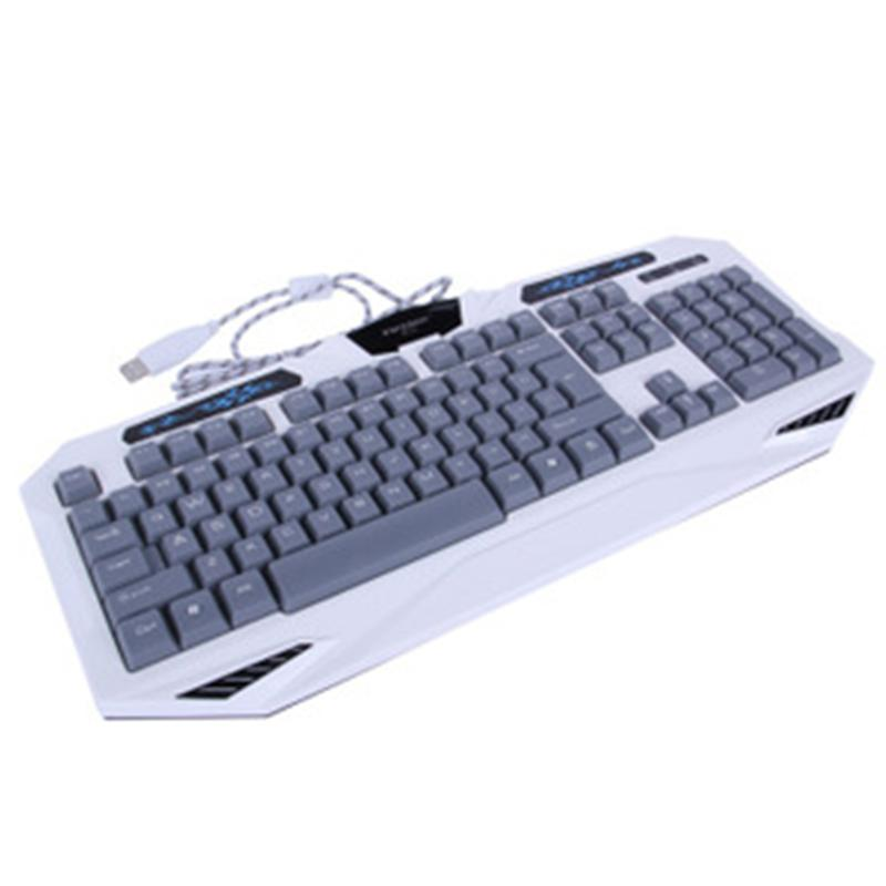 前行者GX-90专业游戏键盘-镭雕蓝色键字-超大有线游戏键盘