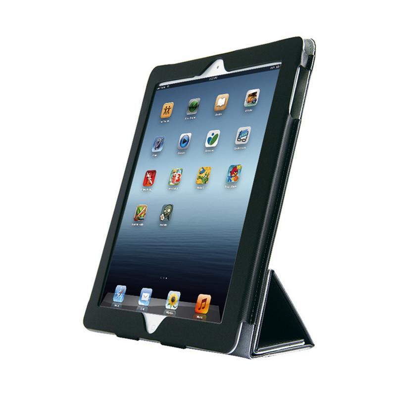 EXCO苹果iPad-2/3/4平板多折Y型智能休眠竖横屏皮套
