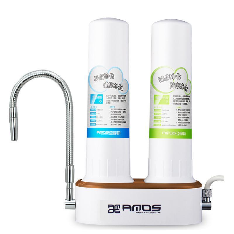 亚摩斯净水器-性价比高-双重过滤-安装简单-双水切换-无需用电