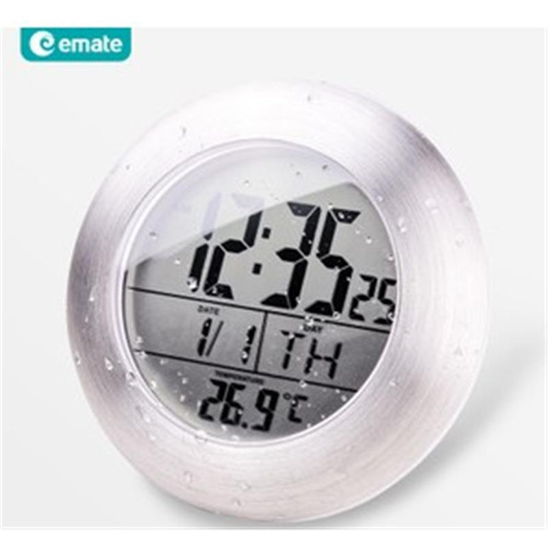 emate厂家直销|一件代发易美特|防水钟|挂钟|电子数字钟|酒店浴室钟