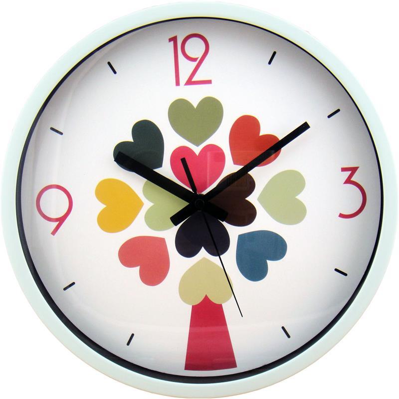 12寸客厅静音创意时尚金属挂钟 烤漆金属拉丝铝挂钟