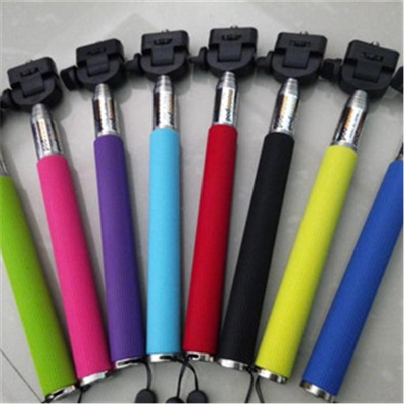 手持不锈钢可伸缩自拍杆-携带便携