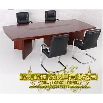 福州办公家具实木油漆会议桌|条形桌洽谈桌|开会桌|烤漆贴木皮培训桌